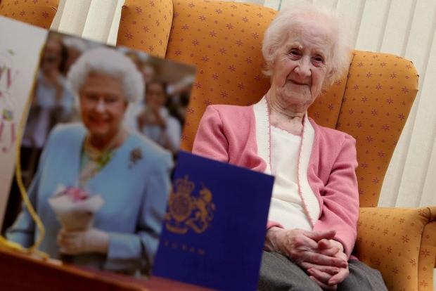 The Advertiser Series: : Ada Dodd who celebrates her 100th birth at the Pelton Grange Care Home. Picture DAVID WOOD (8440286)