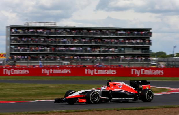 The Advertiser Series: DRIVING FORWARD: Marussia's Max Chilton races at the 2014 British Grand Prix at Silverstone. His team has worked with Sage Group