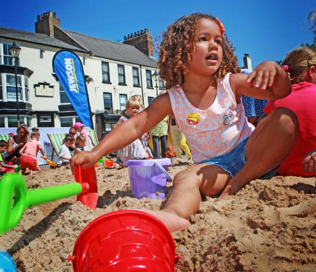 The Advertiser Series: SUMMER FUN: Giselle Popo, four, enjoys Darlington by the Sea  Picture:SARAH CALDECOTT