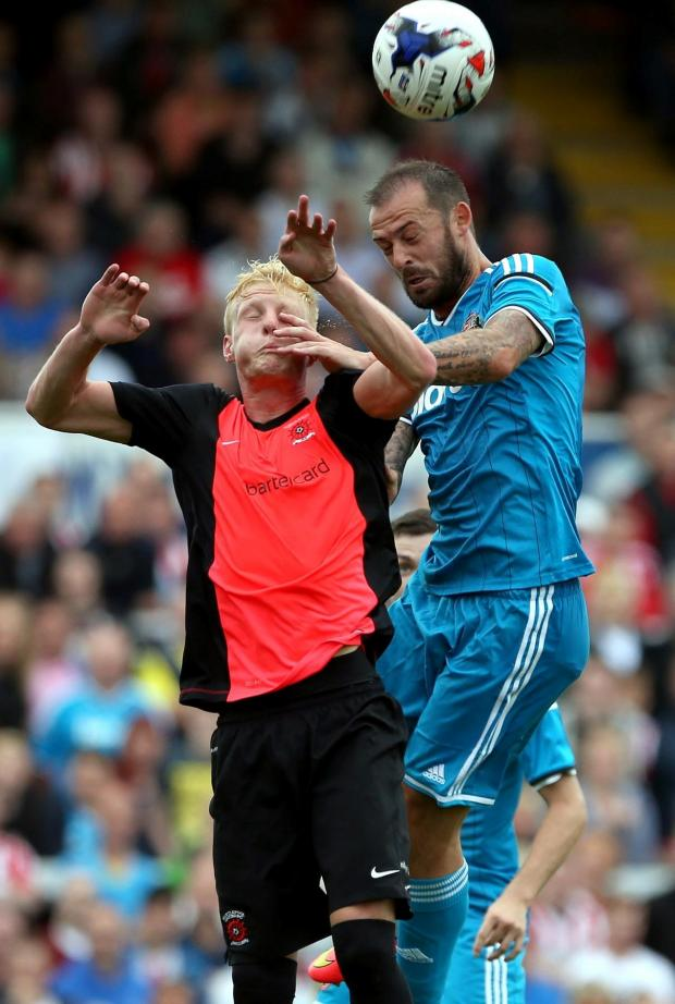 The Advertiser Series: Competition: Steven Fletcher, blue, is one of the strikers keeping Danny Graham out of Gustavo Poyet's thinking. Picture: Chris Booth