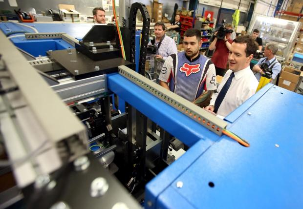 The Advertiser Series: MINISTERIAL VISIT: Chancellor George Osborne, pictured speaking to D