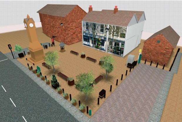 The Advertiser Series: NEW LOOK: An artist's impression of the plan for Thirsk Market Place
