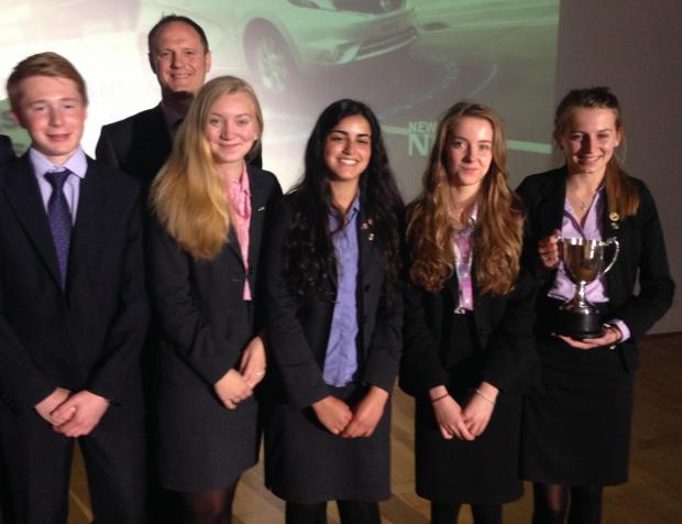 The Advertiser Series: WINNING TEAM: A team of students representing Barnard Castle School's Modern Languages Department, which was crowned overall winners of the school's Industry Day.