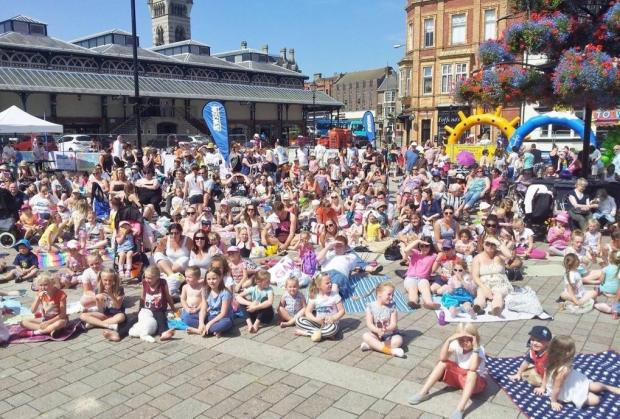 The Advertiser Series: BY THE SEA: Families enjoy the first Seaside Cinema event in Darlington's Market Square