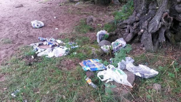 The Advertiser Series: NO RESPECT: Litter left behind by visitors to a river bank in Barnard Castle
