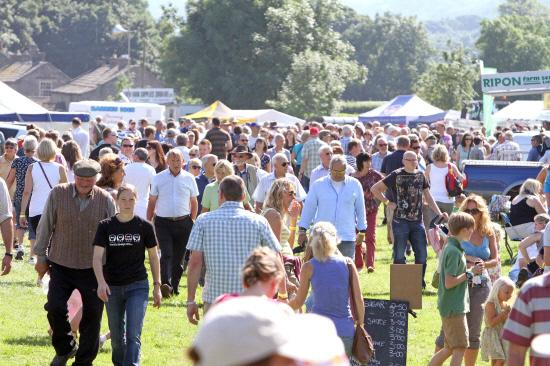The Advertiser Series: PACKED OUT: Visitors at Reeth Show on Bank Holiday Monday last year