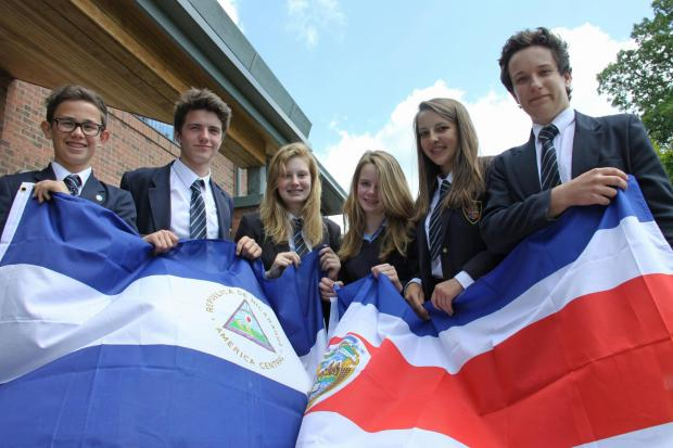 The Advertiser Series: ADVENTURE-BOUND: Some of the students from Ripon Grammar School who are spending four weeks in Nicaragua and Costa Rica this summer, (L-R) Patrick Moon, Josh Belward, Lauren Pybus, Erin Fowler, Lucy Kettlewell and Will Stobbs.