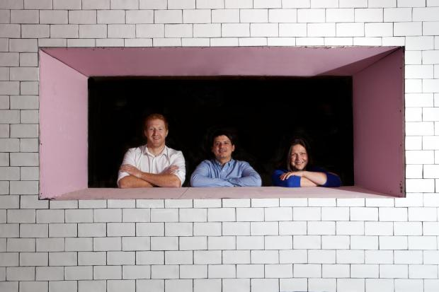 The Advertiser Series: NEW VENTURE: Tim Wilks, left, with Jack Bowles and Ellie Richmond