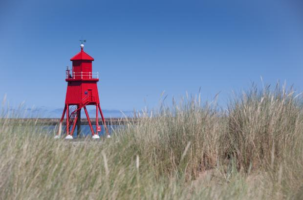 The Advertiser Series: The Herd Groyne lighthouse in South Shields has been repainted.