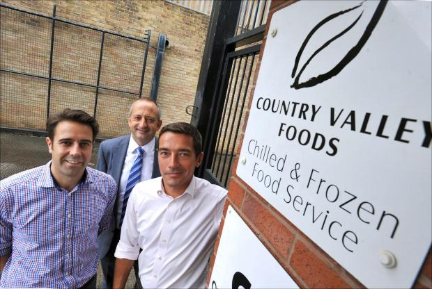 The Advertiser Series: NEW DRIVE: Country Valley Foods have launched a fresh meat delivery service through their website. Joint managing directors and brothers James, right, and Edward Munro, left, are pictured with Jonathan Barnes, from the North East Business Support Fund