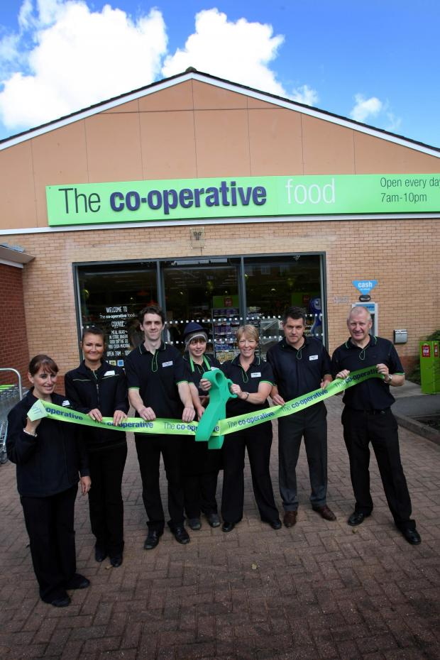 The Advertiser Series: GRAND RE-OPENING: Staff from the Co-op in Coxhoe cut the ribbon on the newly refurbished store. Picture: TOM BANKS (9055658)