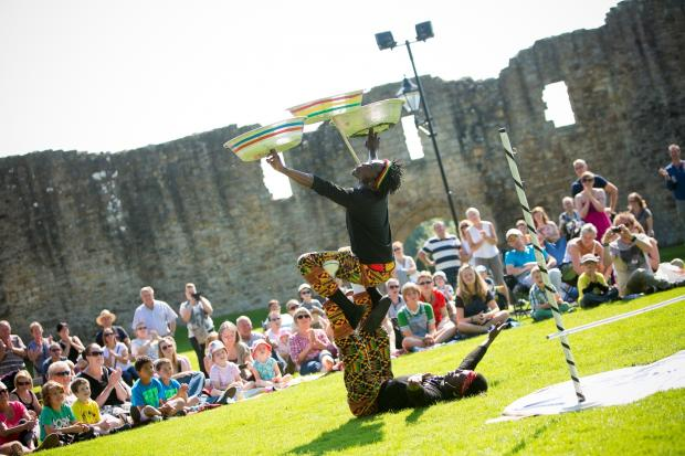 The Advertiser Series: FESTIVAL FUN: Artists perform at Durham Streets Summer Festival in Barnard Castle last year