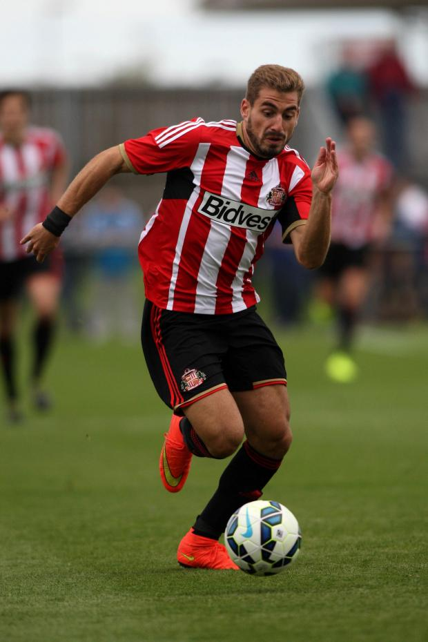 The Advertiser Series: PRE-SEASON FRIENDLY: Sunderland AFC v Udinese Calcio at Heritage Park. , Sunderland's Charis Mavrias on the ball