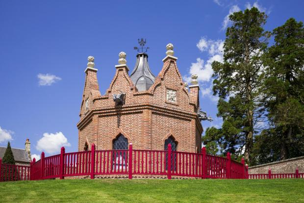 The Advertiser Series: The Belvedere Folly at Dumfries House, with the walled garden in the background.