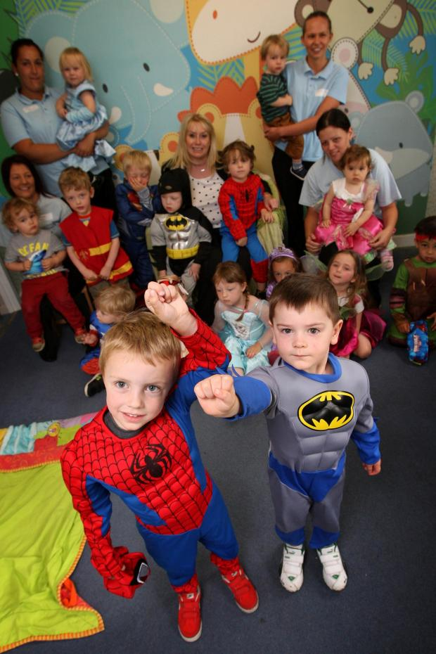The Advertiser Series: SUPERHERO DAY: Children at The Old Bridge Nursery in Shincliffe dress as superheroes for charity. Pictured