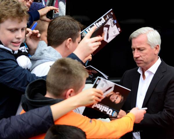 The Advertiser Series: SIGN PLEASE: Alan Pardew with supporters before Sunday's friendly game