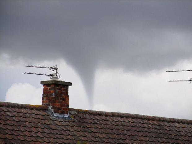 The Advertiser Series: FUNNEL CLOUD: Mark Williams' photograph of the funnel cloud above Darlington