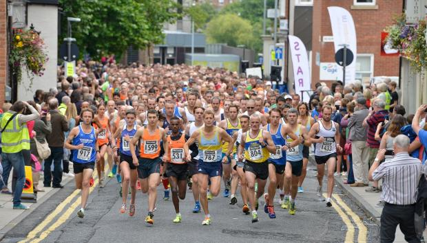 The Advertiser Series: OFF AND RUNNING: Participants in the Darlington 10k last Sunday Picture: TOM YEOMAN