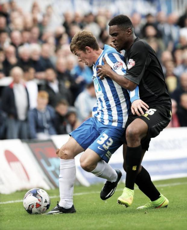 The Advertiser Series: EYE ON THE BALL: Hartlepool's Luke James and Bury's Kelvin Etuhu