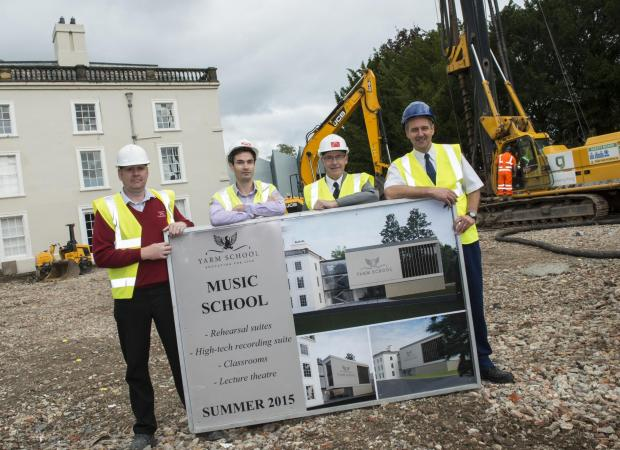 The Advertiser Series: MUSIC MAKERS: (From Left) Sean Potter, site manager, Matthew Wharton, director, Wharton Construction, Peter Wharton, director, Wharton Construction and Alan Hodgson, estates manager, Yarm School.