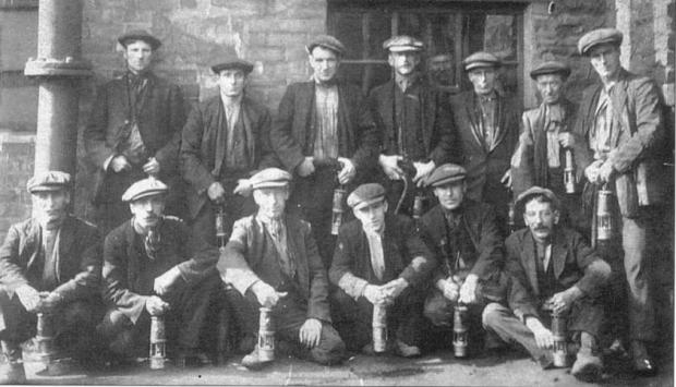 The Advertiser Series: Pity Me - Pitmen at Framwellgate Colliery around 1823. Many Pity Me miners worked at th