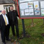 The Advertiser Series: Framwellgate Moor, Durham City- Colin Hillary (left), chairman of the community association and parish councillor Terry Moderate, pictured outside Framwellgate Moor community centre, where the community association is to take over the council-run communit