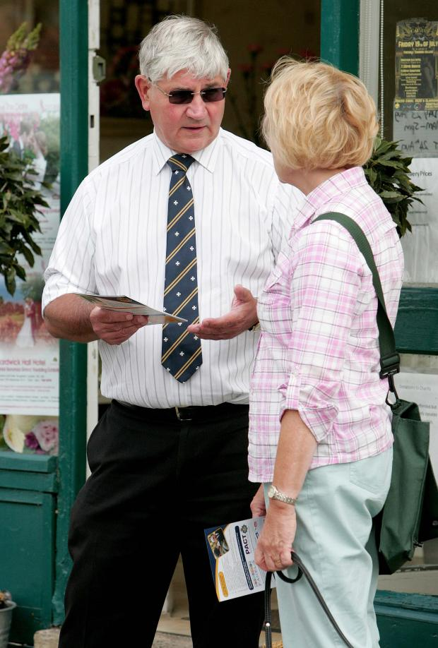 The Advertiser Series: CRIME COMMISSIONER: Durham's Police and Crime Commissioner Ron Hogg talks to shoppers.