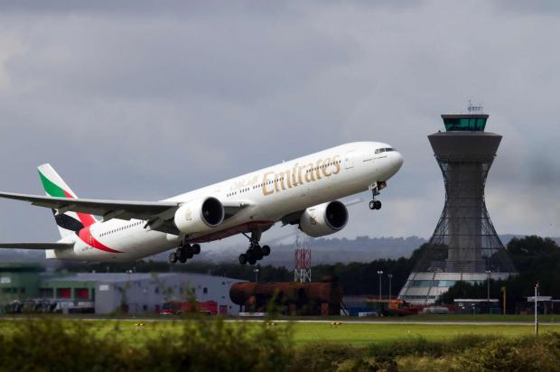The Advertiser Series: TAKING OFF: An Emirates plane leaves Newcastle Airport