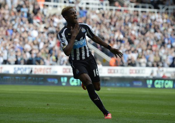 The Advertiser Series: MAN OF THE MATCH: Rolando Aarons celebrates after scoring Newcastle's second goal
