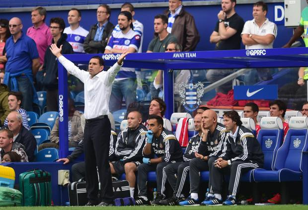 The Advertiser Series: Sunderland's Manager Gus Poyet during the Barclays Premier League match at Loftus Road, London. PRESS ASSOCIATION Photo. Picture date: Saturday August 30, 2014. See PA story SOCCER QPR. Photo credit should read: Adam Davy/PA Wire. RESTRICTIONS: Editor