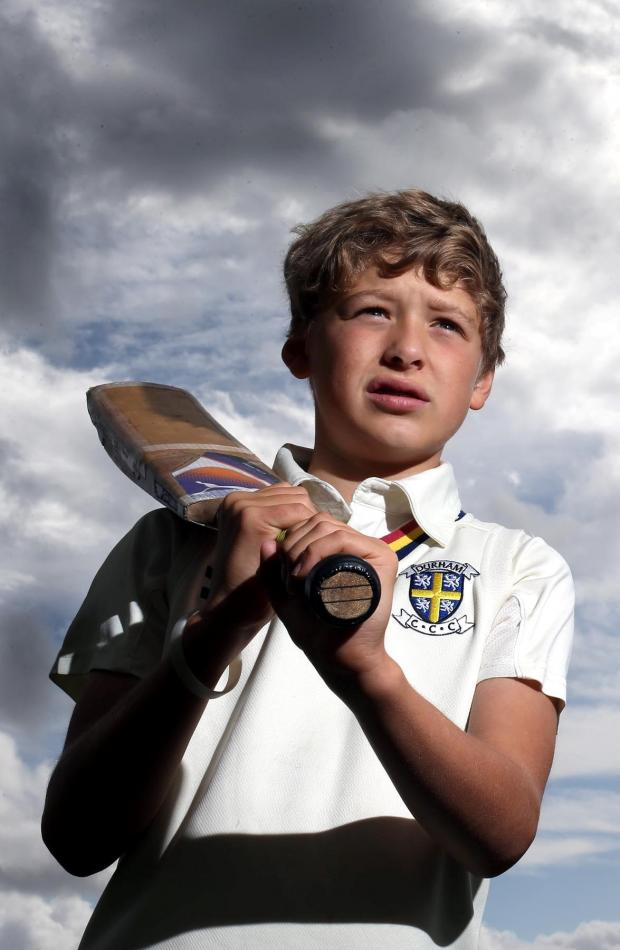 The Advertiser Series: NEXT GENERATION: 12-year-old Finn Usher, at Barnard Castle Cricket Club, was one of 80 selected to train at Loughborough University's cricket ground Picture: CHRIS BOOTH