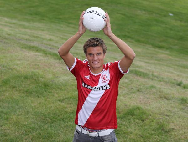 The Advertiser Series: ANOTHER ONE IN: Jelle Vossen has joined Middlesbrough on a season-long loan                Picture: Middlesbrough Football Club