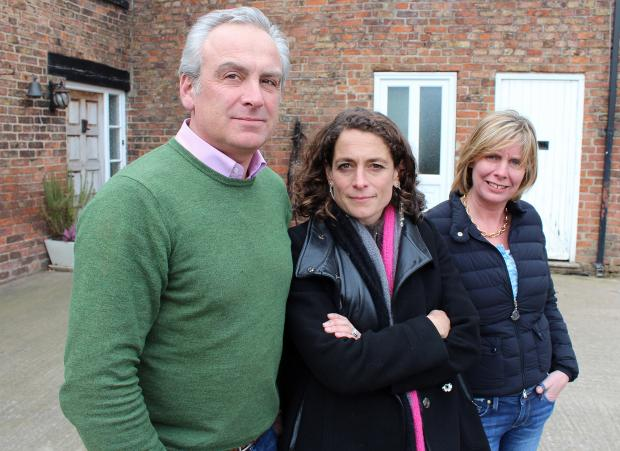 The Advertiser Series: TV APPEARANCE: Heck's husband and wife team Andrew and Debbie Keeble, pictured with Alex Polizzi, centre, from the BBC2 sho