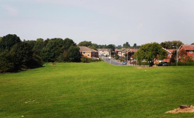 The Advertiser Series: HOMES PLAN: The green space off Hammond Drive, in Skerne Park, where Darlington Borough Council plans to build social housing      Picture:SARAH CALDECOTT