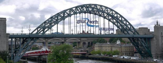 The Advertiser Series: SIGNIFICANT WORK: Astley's Great North Run sign on the Tyne Bridge