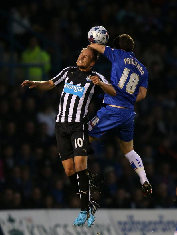 The Advertiser Series: PLEA FOR PATIENCE: Siem de Jong, pictured during the Capital One Cup win over Gillingham, admits it will take time for Newcastle's summer signings to form a team