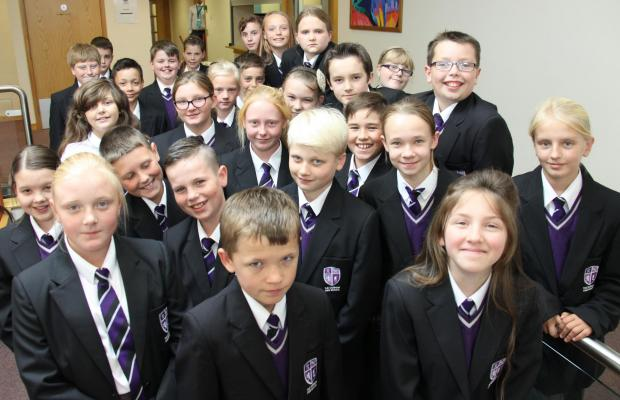 The Advertiser Series: EXPANDING NUMBERS: Some of the new year seven pupils at The Durham Free School