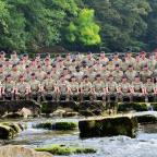 The Advertiser Series: A DETACHMENT of soldiers have marked the first time they have been together for a decade, following operational commitments in Iraq and Afghanistan, by posing for an official photograph in the River Swale, in Richmond.Richmond-based photographer Paul Boot
