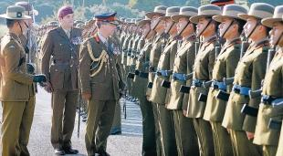 The Advertiser Series: Attention: Brigadier David Clements inspects the Gurkha Brigade